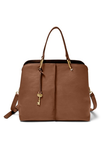 Fossil brown Fossil Lane Brown Shoulder Bag ZB7471200 FA970ACCAD5715GS_1