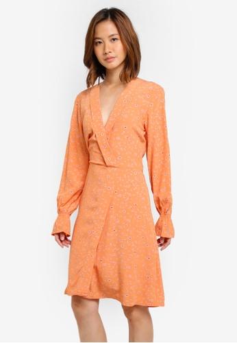 Selected Femme gold SFANYA LS DRESS EX 96036AA5769B5BGS_1