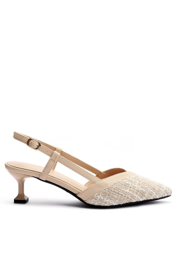 Twenty Eight Shoes 尖頭花呢布高踭鞋6208-6 F9924SH29FCDF9GS_1
