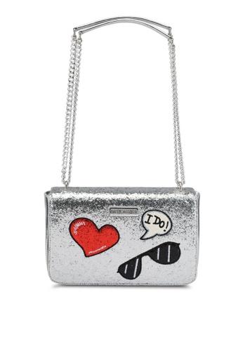 Love Moschino silver Borsa Glitters Metalic Shoulder Bag LO478AC0SEKCMY_1
