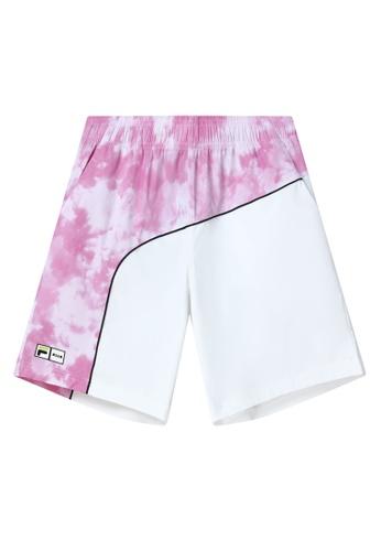FILA pink FILA x MSGM Tie Dye Color Blocks Bermuda Short E0B2BAA83BB252GS_1