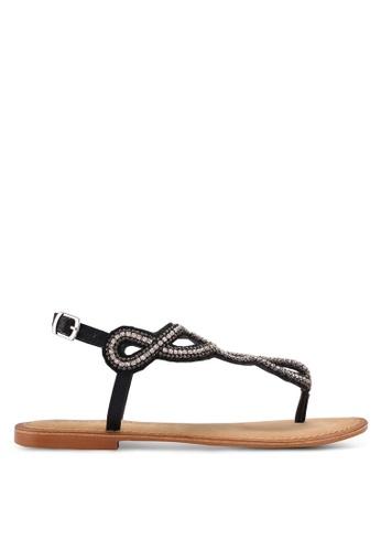 Vero Moda black Liv Leather Sandals 6A232SH8F1A66CGS_1