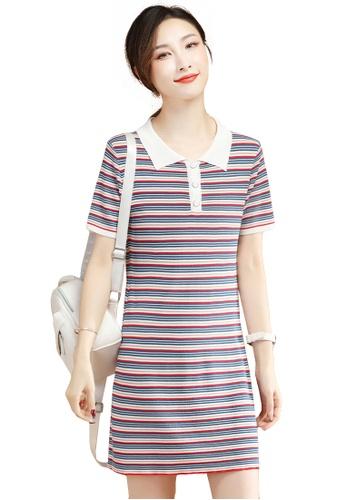 A-IN GIRLS multi Fashion Striped Knitted Dress FAA48AA393454FGS_1