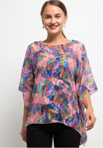 LUIRE by Raden Sirait pink Fm Ponco Kotak Smm C5548AA26433ECGS_1