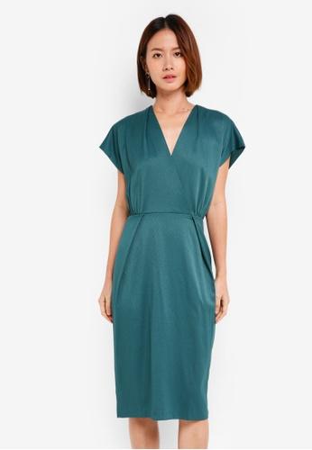 CLOSET green Wrap Over Kimono Dress 97E46AA09A642AGS_1