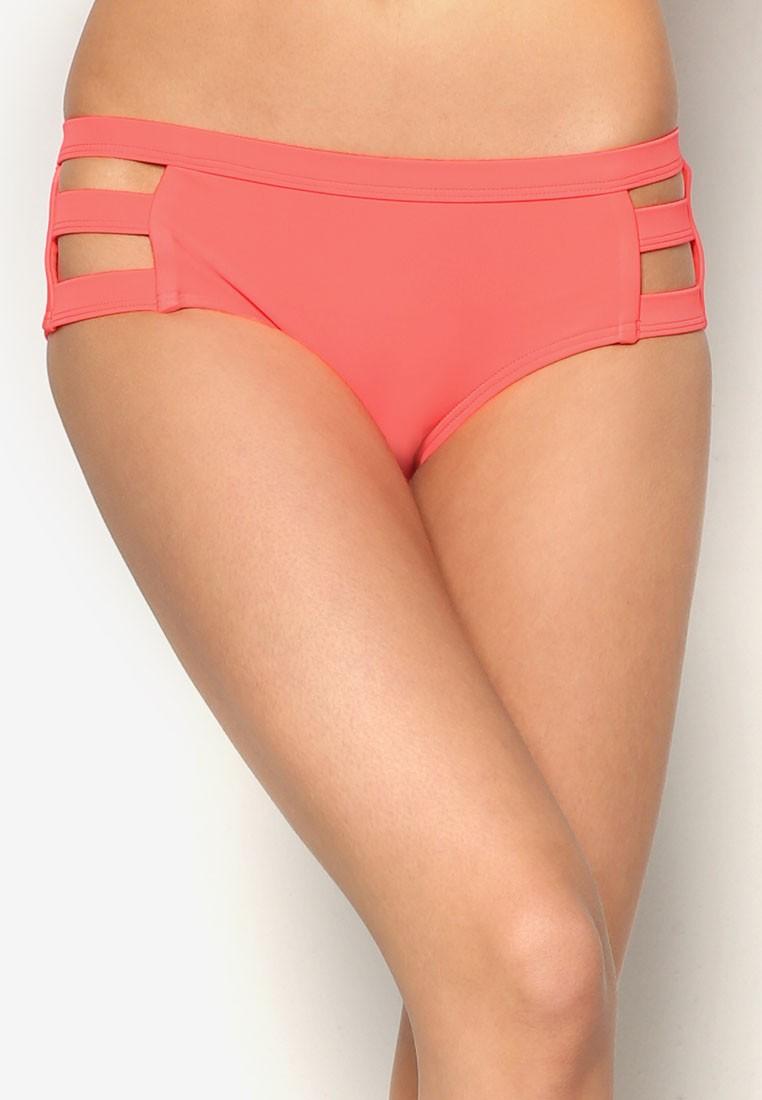 Solid Separates Banded Boyleg Bikini Bottom