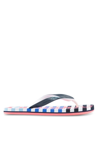Superdry multi and navy Eva Stripe Flip Flop SU137SH0T1ZOMY_1