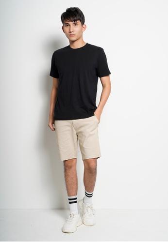 Hi Style black Plain Short Sleeve Tee DF013AA4A99ECEGS_1