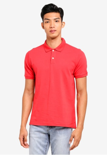 GAP red Pique Polo Shirt CDEFFAA165BDDFGS_1