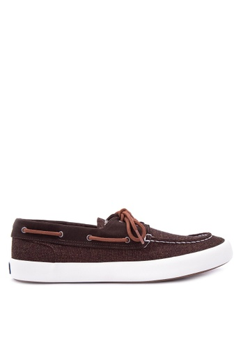 Sperry brown Wahoo 2 Eye Multi Knit Sneakers SP132SH0IJXJPH_1