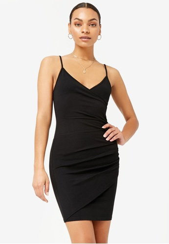 7d90cf0103 FOREVER 21 black Ruched Bodycon Dress F445CAA79596BBGS_1. CLICK TO ZOOM