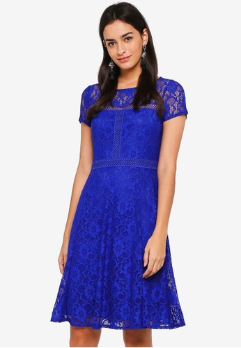 Wallis blue Blue Lace Fit And Flare Dress 15A57AAF5E1847GS_1