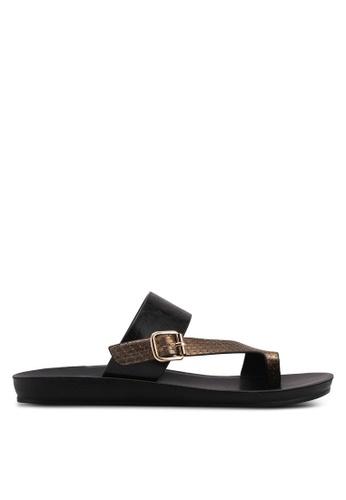 Noveni black Strappy Sandals E0BA8SH2B38781GS_1