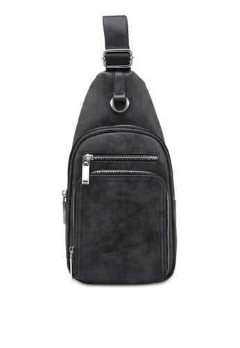 ZALORA black Multi-Compartments Sling Pack A3F38ZZ4B399E3GS_1