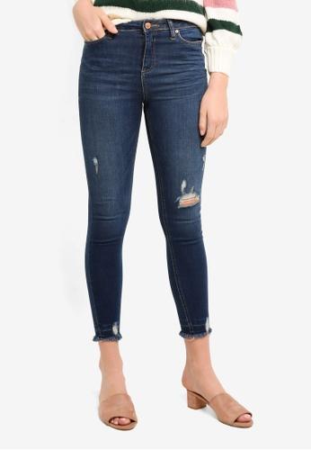 Miss Selfridge blue Lizzie Skinny Fit Dark Wash Jeans C7C5EAA8930A67GS_1