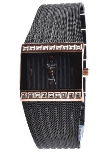 Alexandre Christie black Alexandre Christie - Jam Tangan Wanita - Rosegold - Black Stainless Steel Bracelet - 2561LHBBRB EF7E2AC10E3995GS_1