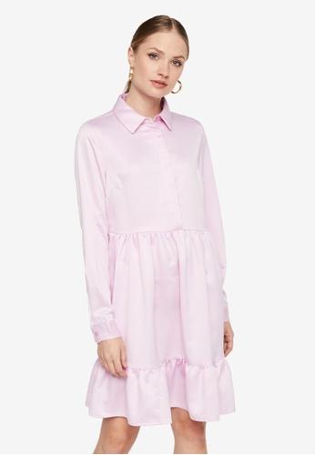 Pieces purple Tia Long Sleeve Dress C0F06AAD08B811GS_1