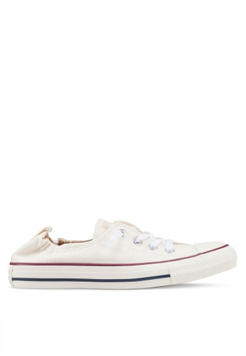 Converse white Chuck Taylor All Star Shoreline Nude Suede Slip Ons 7FFB1SH41E2053GS_1