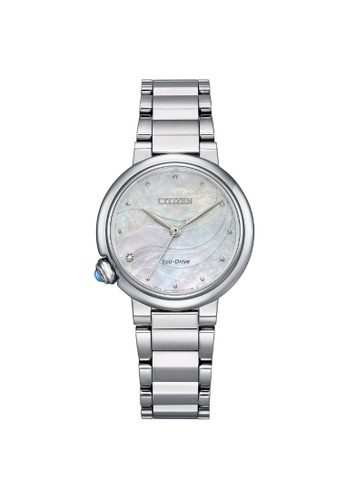 Citizen silver CITIZEN EM0910-80D ECO-DRIVE MOTHER OF PEARL STAINLESS STEEL WOMEN'S WATCH 66110AC31D0A3AGS_1