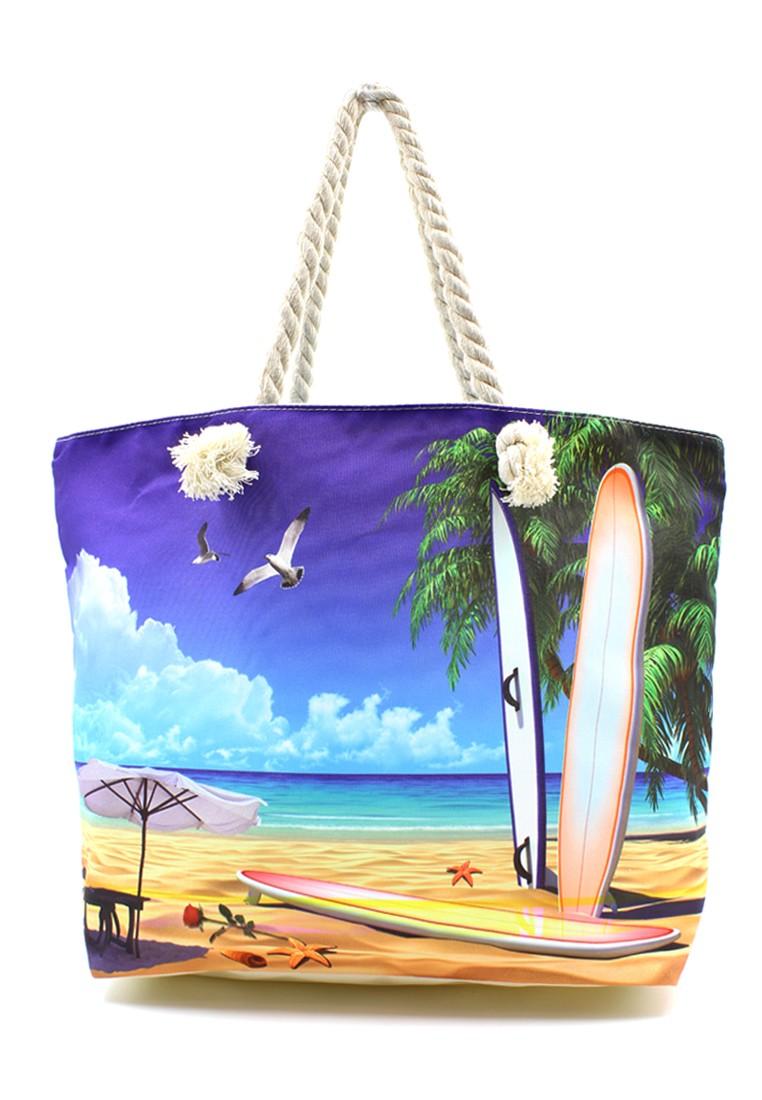 Flying Pigeon Beach Tote Bag