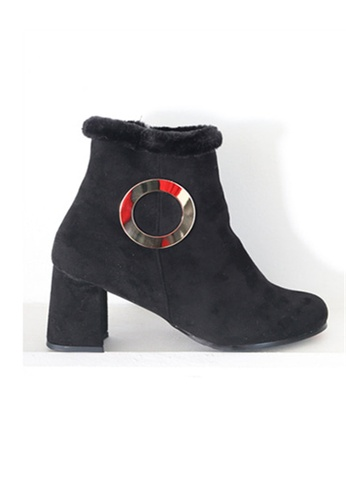 Crystal Korea Fashion black Korean Made Suede Leather With Boots CR681SH2WDLXHK_1