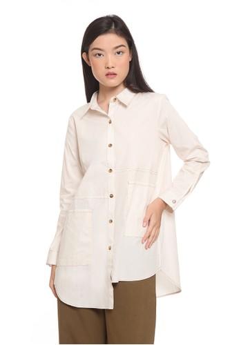 et cetera beige Shirt Long sleeve 92916AAFD73FB8GS_1