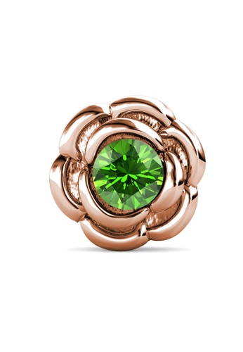 Her Jewellery gold Petunia Brooch (August, Rose Gold)-  Made with premium grade crystals from Austria F8B13ACE6786D0GS_1