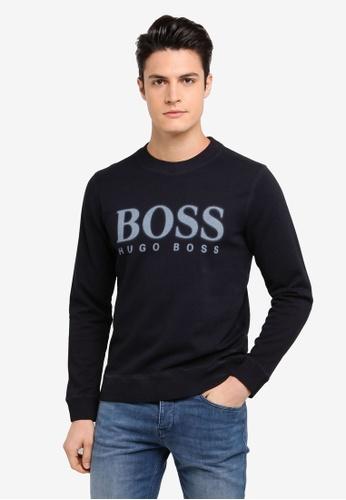 BOSS navy Wallker Sweatshirt EAB23AA36A6E94GS_1