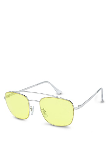 16a34a428d8 Jeepers Peepers yellow Clear Yellow Navigator Sunglasses F1B07GLA94739EGS 1