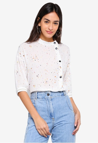 ce3e137303151 Buy ESPRIT Woven Short Sleeve Blouse Online on ZALORA Singapore