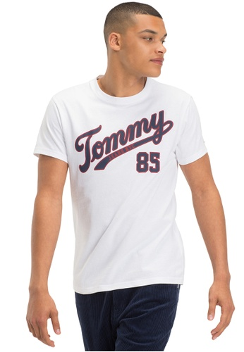 Tommy Jeans white TJM ESSENTIAL SCRIPT TEE 41A6AAA636A185GS_1