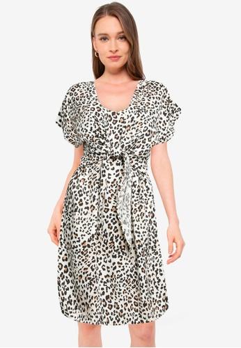 Dorothy Perkins multi Animal Printed 2-In-1 Shirt Dress B9E1CAACA01D38GS_1