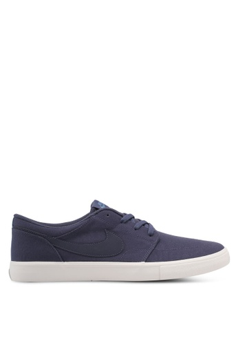 Nike blue Men's Nike SB Solarsoft Portmore II Skateboarding Shoes NI126SH0STQZMY_1