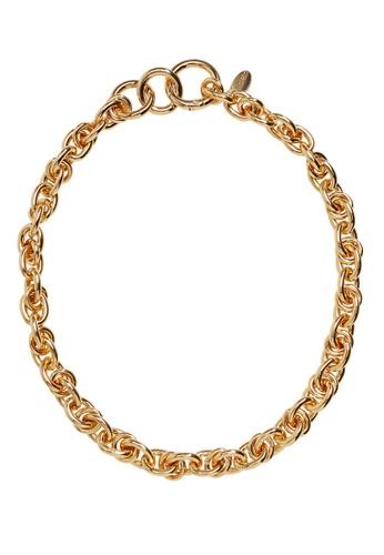 Violeta by MANGO gold Link Chain Necklace B1586AC5C7420BGS_1