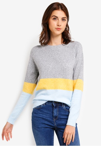 01c56464f11 Buy Vero Moda Doffy Colorblock Sweater Online on ZALORA Singapore