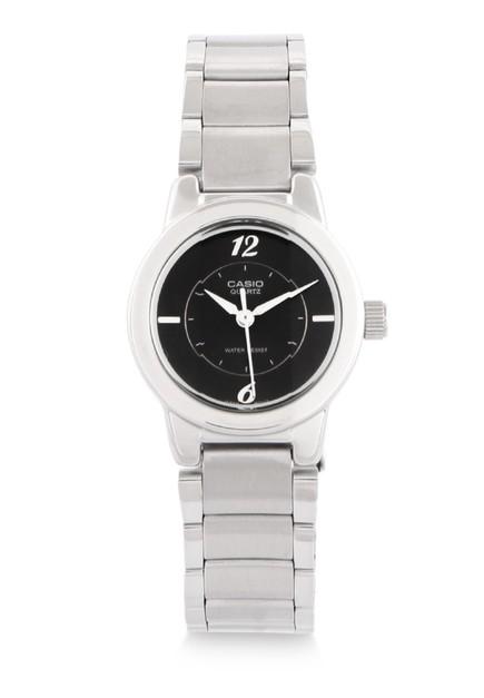 Casio Jam Tangan Wanita - Silver Black - Stainless Steel - LTP-1230D-1CDF ...