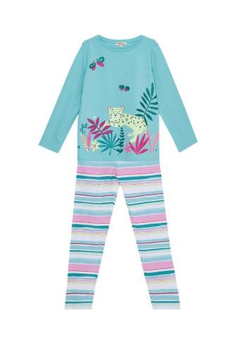 Du Pareil Au Même (DPAM) blue Leopard Pajamas 04D54KA1CA78A5GS_1