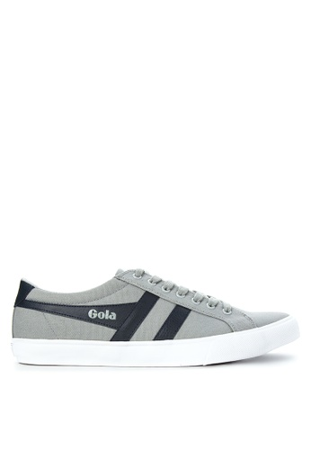 Gola grey and navy Varsity Sneakers GO513SH27TROPH_1