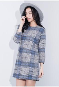 Cowboy Plaid Wool Dress