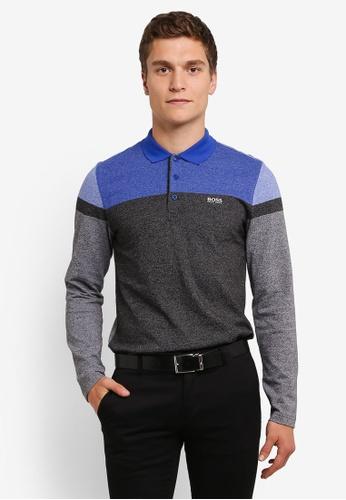 Boss Green black and multi Pleesy Polo Shirt BO516AA0RPOWMY_1