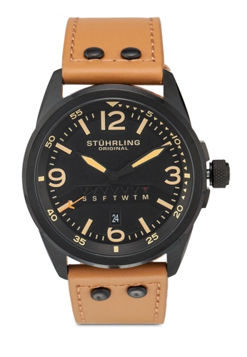 Stuhrling Original brown Stuhrling Aviator 447.03 Watch BF653ACFB4E80DGS_1