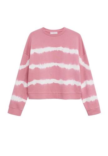 MANGO KIDS pink Tie-Dye Cotton Sweatshirt 5B6FDKAC799D88GS_1