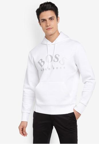 BOSS white Sly Hooded Sweatshirt - Boss Athleisure BO517AA0SRB2MY_1
