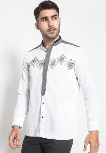 LGS white LGS - Regular Fit - Baju Koko - Lengan Panjang - Variasi Motif - Putih DFB1BAA1635109GS_1