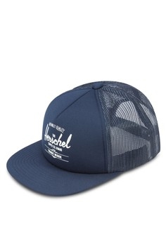 Whaler 網眼拼接平沿帽