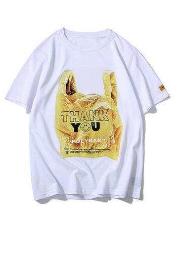 HAPPY FRIDAYS 創意環保袋印花短袖T恤 UP8004 EFF69AA5525AFEGS_1