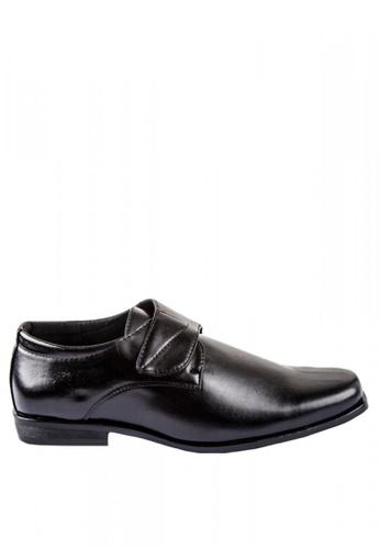 Otto black Velcro Strap Formal Black Shoes 31CDESHA58D0D8GS_1