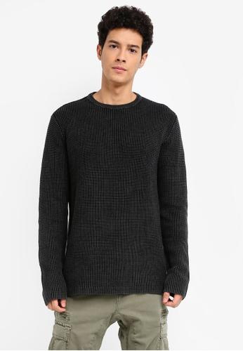Cotton On 黑色 Split Hem Knit Jumper E60E3AA50B6256GS_1