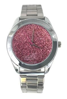 Nafisa Women Round Dial Sparking Fashion Stainless Steel Wrist Watch