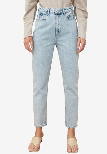 Trendyol blue High Waist Mom Jeans E7CF3AA7066C93GS_1